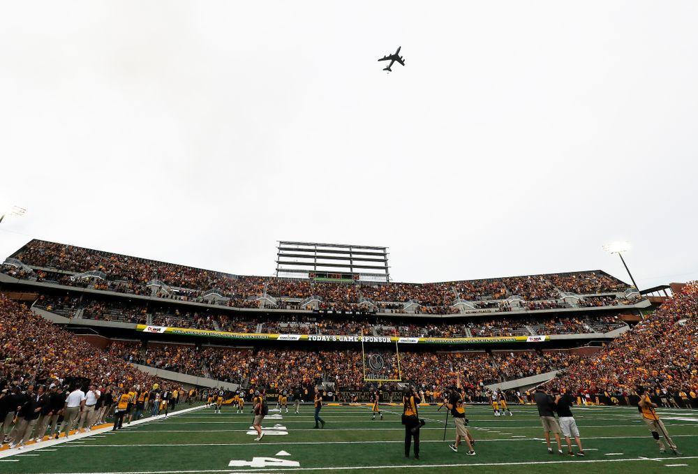 A KF-135 Stratotanker before the Iowa Hawkeyes game against the Iowa State Cyclones Saturday, September 8, 2018 at Kinnick Stadium. (Brian Ray/hawkeyesports.com)