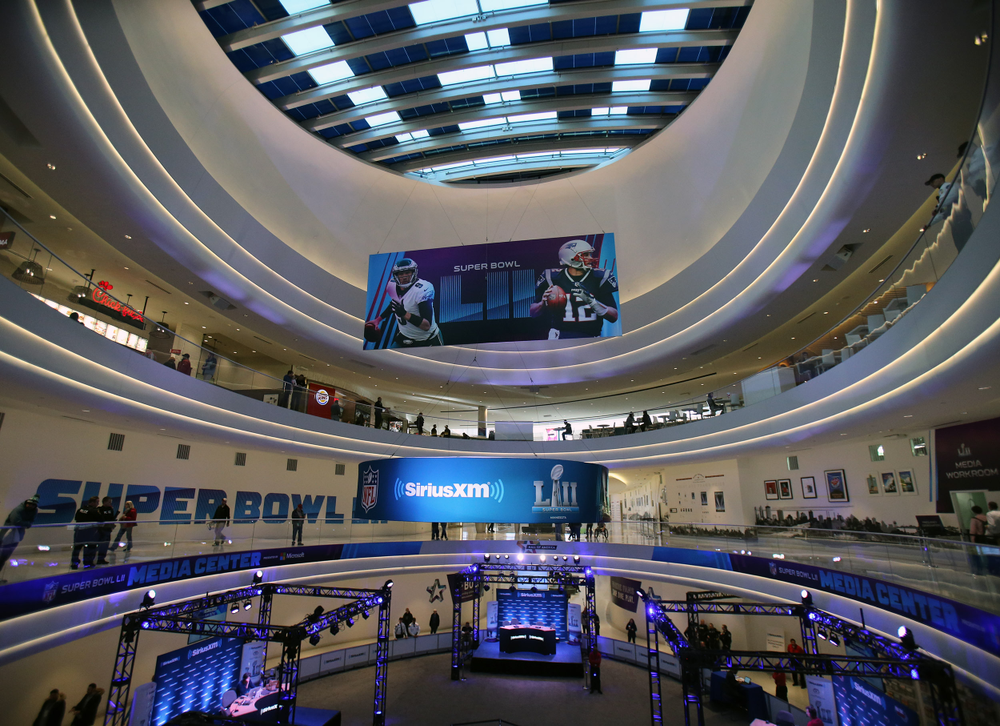Super Bowl LII Media Center in the Mall of Amercia
