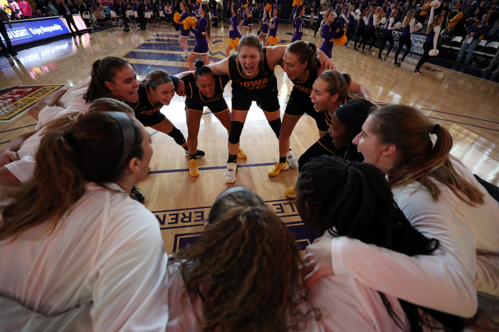 The Iowa Hawkeyes against Northern Iowa Sunday, November 17, 2019 at the McLeod Center. (Brian Ray/hawkeyesports.com)