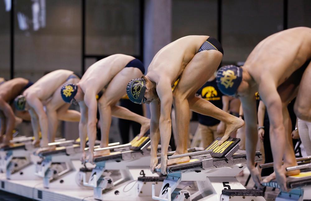 Iowa's Jack Smith swims the 50 yard freestyle