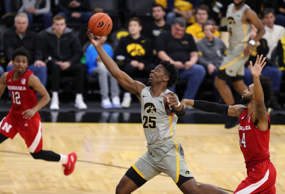 Iowa Hawkeyes forward Tyler Cook (25) against the Nebraska Cornhuskers Sunday, January 6, 2019 at Carver-Hawkeye Arena. (Brian Ray/hawkeyesports.com)