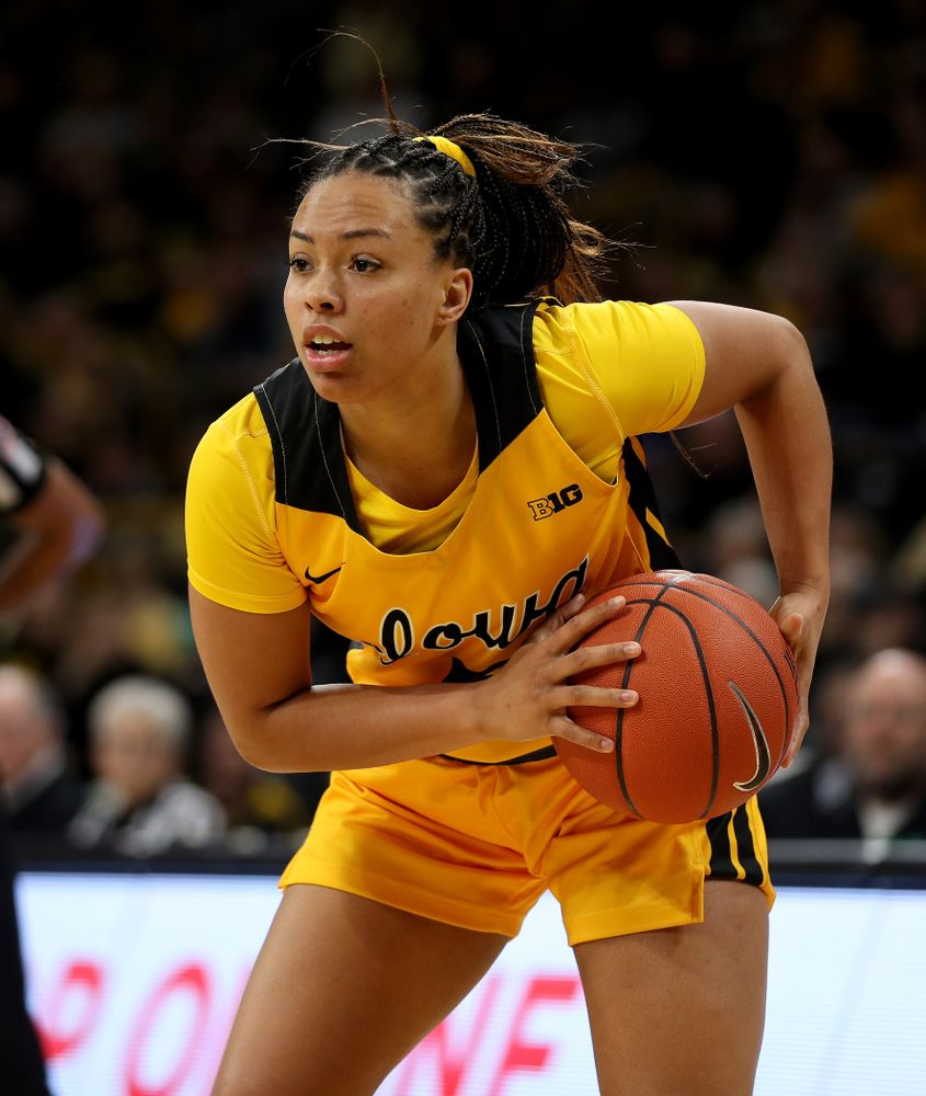 Iowa Hawkeyes guard Alexis Sevillian (5) against the Minnesota Golden Gophers Thursday, February 27, 2020 at Carver-Hawkeye Arena. (Brian Ray/hawkeyesports.com)