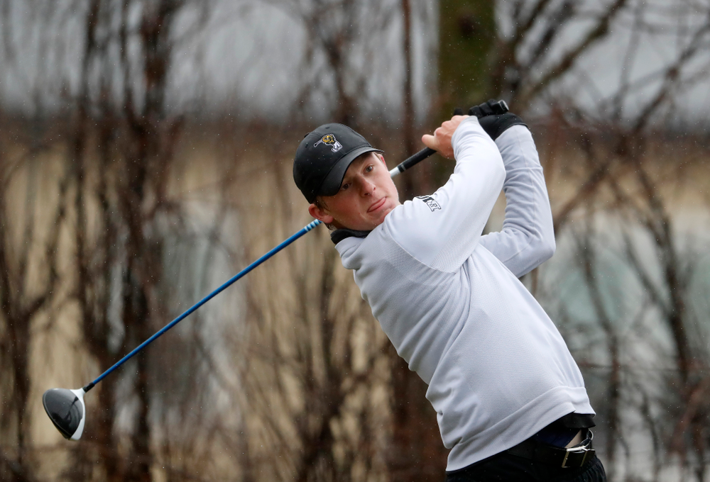 Iowa's Benton Weinberg during day two of the 2018 Hawkeye Invitational Friday, April 13, 2018 at Finkbine Golf Course. (Brian Ray/hawkeyesports.com)