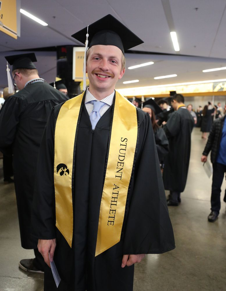 Iowa Track and FieldÕs Bailey Hesse-Withbroe during the College of Liberal Arts and Sciences spring commencement Saturday, May 11, 2019 at Carver-Hawkeye Arena. (Brian Ray/hawkeyesports.com)