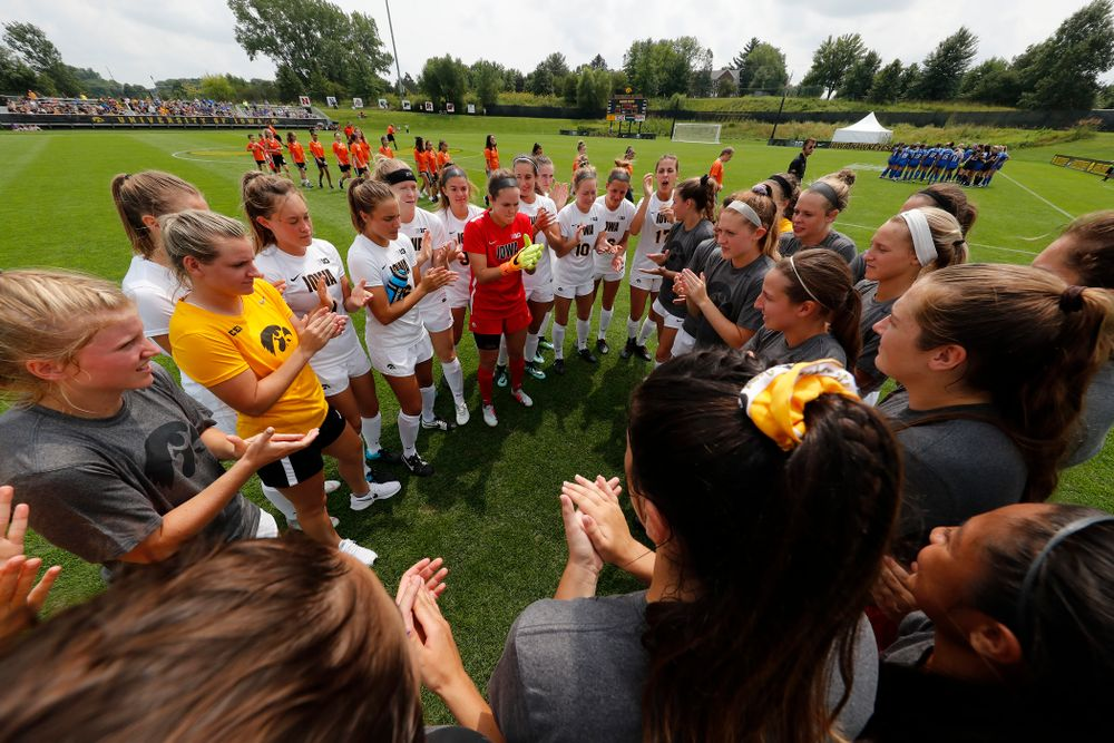 The Iowa Hawkeyes against the Creighton Bluejays  Sunday, August 19, 2018 at the Iowa Soccer Complex. (Brian Ray/hawkeyesports.com)