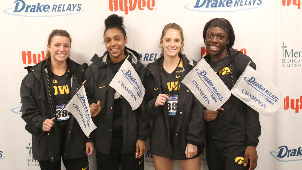 Taylor Arco, Briana Guillory, Talia Buss, Antonise Christian -- Sprint Medley Relay champions