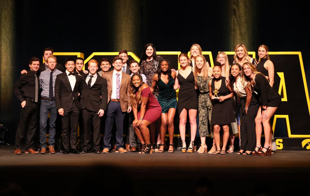 The 2019 Golden Herkys Tuesday, April 23, 2019 at Hancher Auditorium. (Brian Ray/hawkeyesports.com)