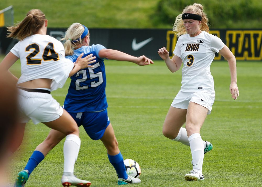 Iowa Hawkeyes defender Morgan Kemerling (3)