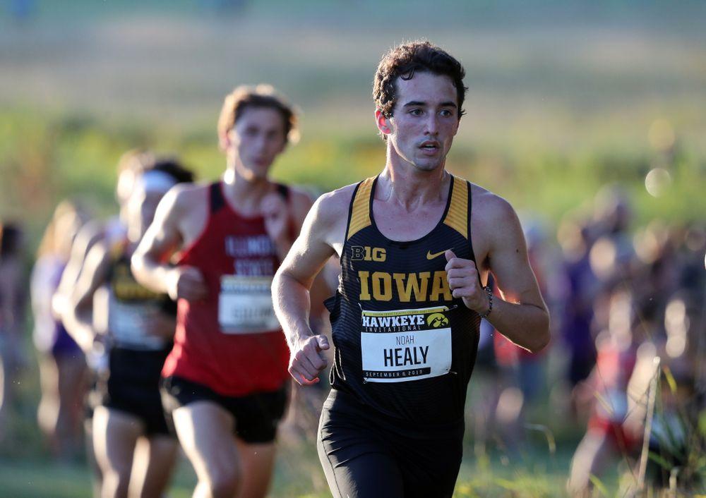 IowaÕs Noah Healy runs in the 2019 Hawkeye Invitational Friday, September 6, 2019 at the Ashton Cross Country Course. (Brian Ray/hawkeyesports.com)