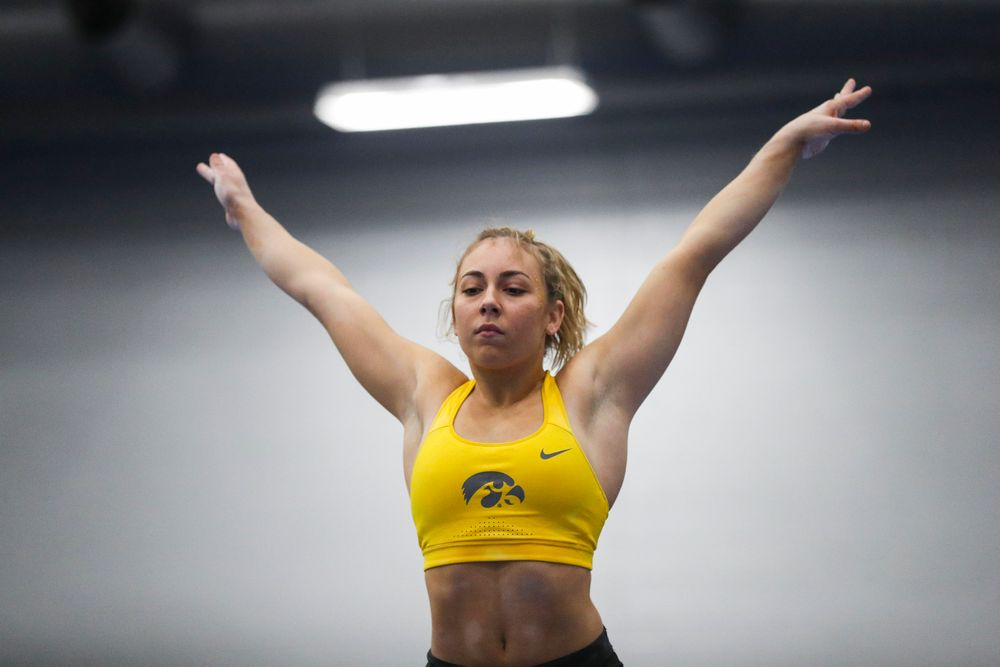 Alex Greenwald performs on the beam during the Iowa women's gymnastics Black and Gold Intraquad Meet on Saturday, December 7, 2019 at the UI Field House. (Lily Smith/hawkeyesports.com)