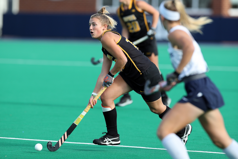 Iowa Hawkeyes forward Leah Zellner (13) against Penn State in the 2019 Big Ten Field Hockey Tournament Championship Game Sunday, November 10, 2019 in State College. (Brian Ray/hawkeyesports.com)