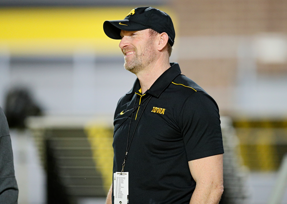 Iowa director of track and field Joey Woody smiles during the Larry Wieczorek Invitational at the Recreation Building in Iowa City on Friday, January 17, 2020. (Stephen Mally/hawkeyesports.com)