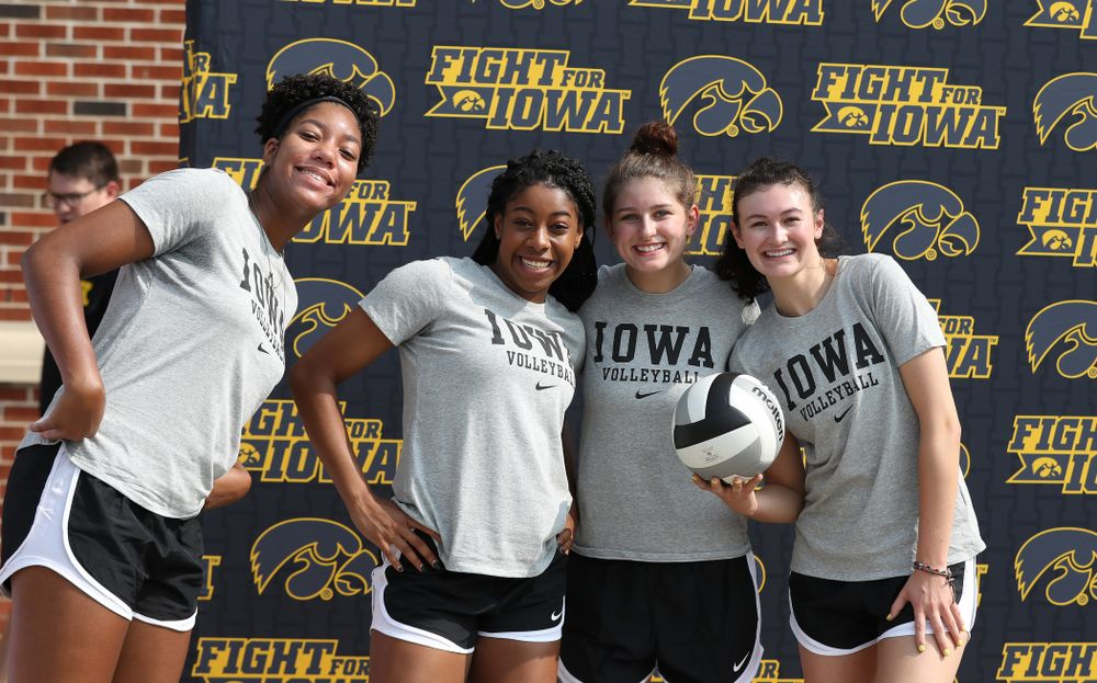 The Iowa Volleyball Team during Kids Day Saturday, August 11, 2018 at Kinnick Stadium. (Brian Ray/hawkeyesports.com)