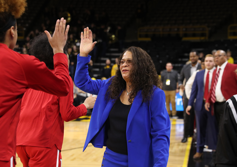 Rutgers Scarlet Knights head coach C. Vivian Stringer before their game against the Iowa Hawkeyes Wednesday, January 23, 2019 at Carver-Hawkeye Arena. (Brian Ray/hawkeyesports.com)