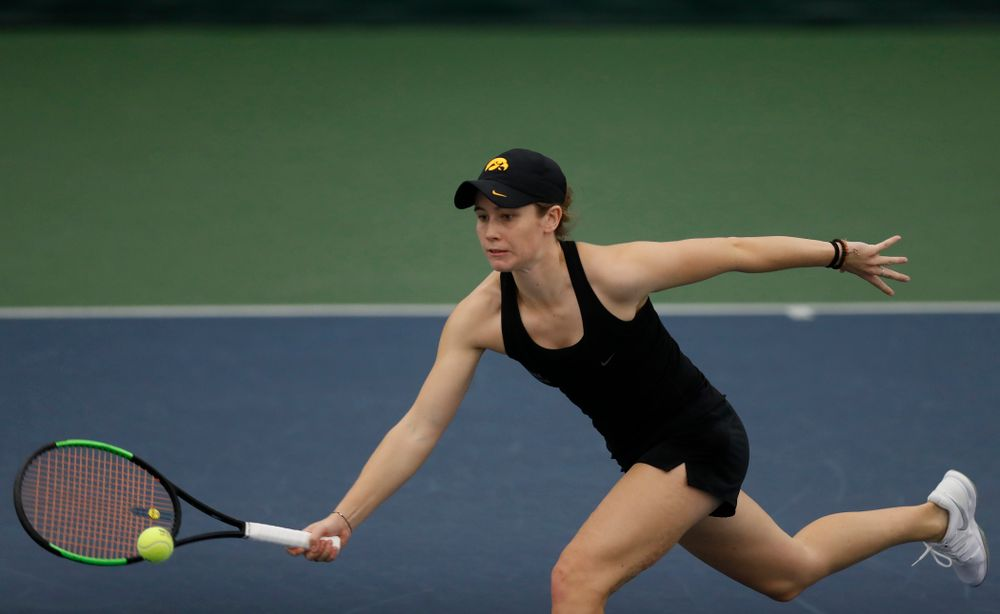 Iowa's Elise Van Heuvelen against Marquette