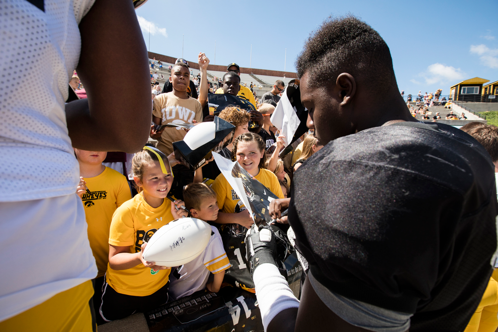 Hawkeye Football Kids Day at Kinnick 2016