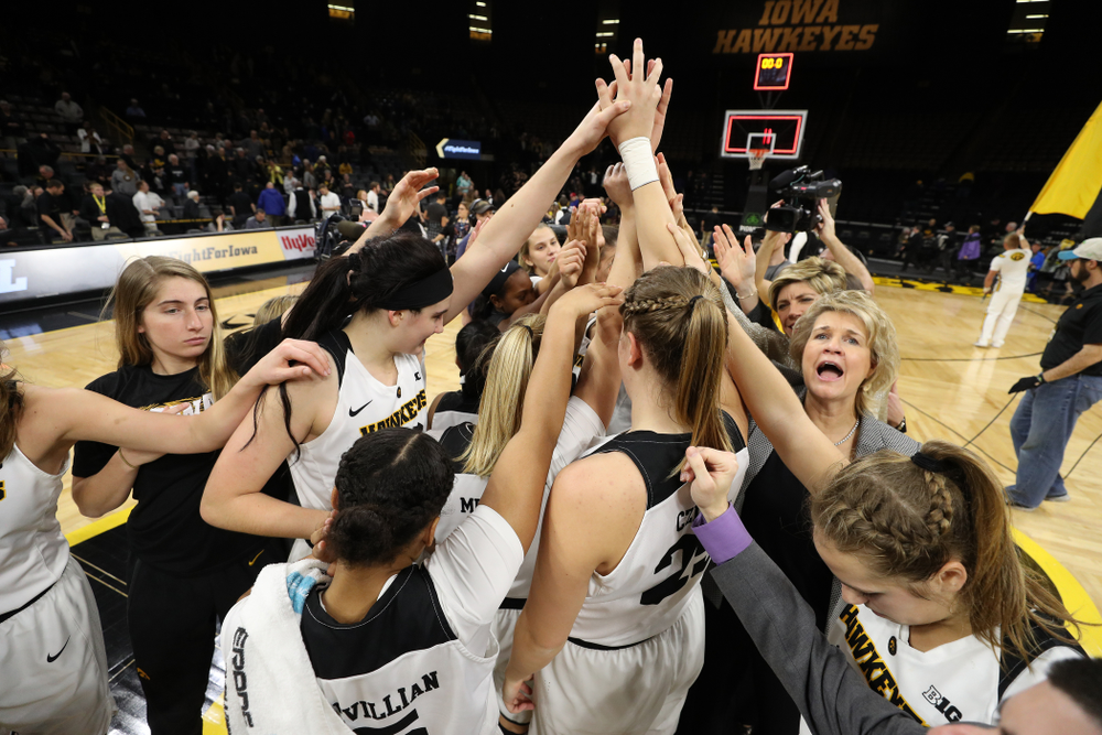 The Iowa Hawkeyes against the Wisconsin Badgers Monday, January 7, 2019 at Carver-Hawkeye Arena.  (Brian Ray/hawkeyesports.com)
