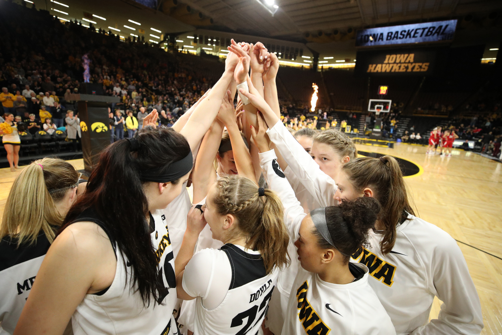The Iowa Hawkeyes against the Nebraska Cornhuskers Thursday, January 3, 2019 at Carver-Hawkeye Arena. (Brian Ray/hawkeyesports.com)