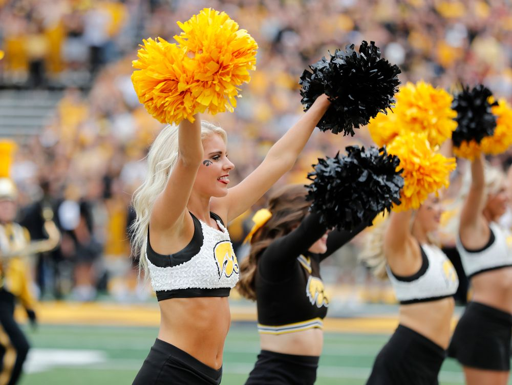The Iowa Spirit Squad before the Iowa Hawkeyes game against against the Iowa State Cyclones Saturday, September 8, 2018 at Kinnick Stadium. (Brian Ray/hawkeyesports.com)