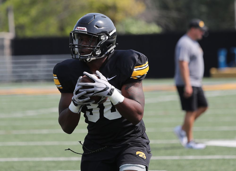 Iowa Hawkeyes running back Henry Geil (30) during the third practice of fall camp Sunday, August 5, 2018 at the Kenyon Football Practice Facility. (Brian Ray/hawkeyesports.com)