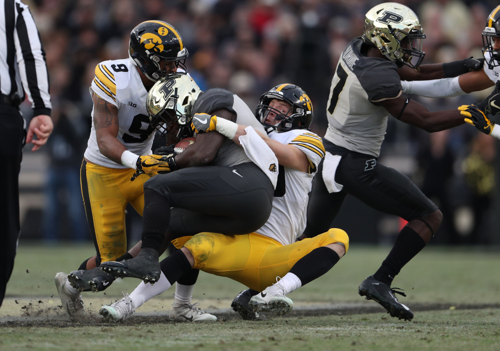 Iowa Hawkeyes defensive back Jake Gervase (30) against the Purdue Boilermakers Saturday, November 3, 2018 Ross Ade Stadium in West Lafayette, Ind. (Brian Ray/hawkeyesports.com)