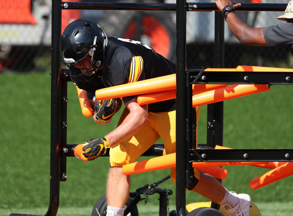 Iowa Hawkeyes fullback Brady Ross (36) during Fall Camp Practice No. 5 Tuesday, August 6, 2019 at the Ronald D. and Margaret L. Kenyon Football Practice Facility. (Brian Ray/hawkeyesports.com)