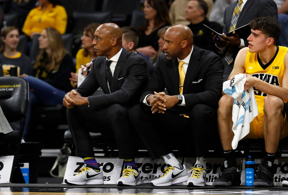Assistant coaches Sherman Dillard and Andrew Francis