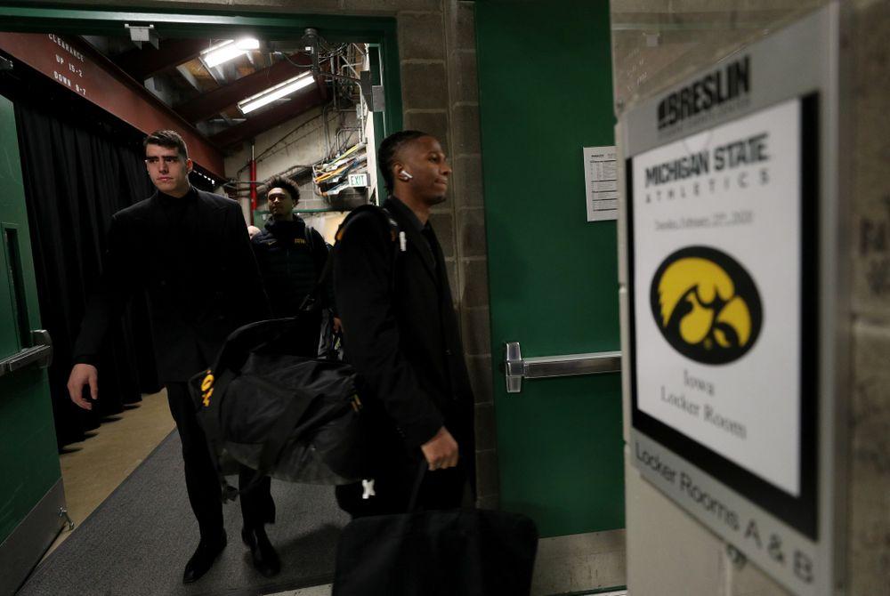 Iowa Hawkeyes forward Luka Garza (55) against Michigan State Tuesday, February 25, 2020 at the Breslin Center in East Lansing, MI. (Brian Ray/hawkeyesports.com)