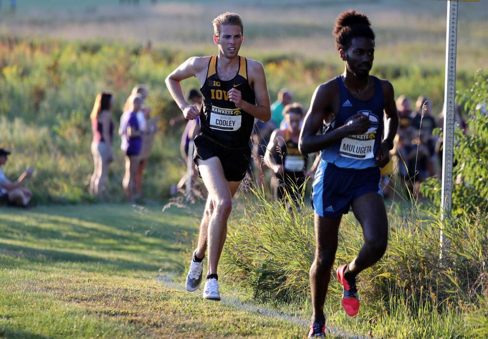 IowaÕs Brandon Cooley runs in the 2019 Hawkeye Invitational Friday, September 6, 2019 at the Ashton Cross Country Course. (Brian Ray/hawkeyesports.com)
