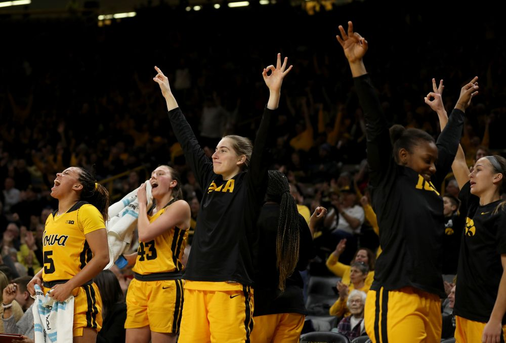 Iowa Hawkeyes guard Kate Martin (20) against the Minnesota Golden Gophers Thursday, February 27, 2020 at Carver-Hawkeye Arena. (Brian Ray/hawkeyesports.com)