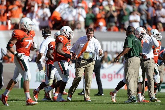 Head coach Al Golden lead the University of Miami Hurricanes to victory by beating the Georgia Tech Yellow Jackets by a score of 45-30 and improving...