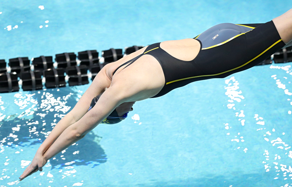 Iowa's Sarah Schemmel swims the women's 50 yard freestyle preliminary event during the 2020 Women's Big Ten Swimming and Diving Championships at the Campus Recreation and Wellness Center in Iowa City on Thursday, February 20, 2020. (Stephen Mally/hawkeyesports.com)