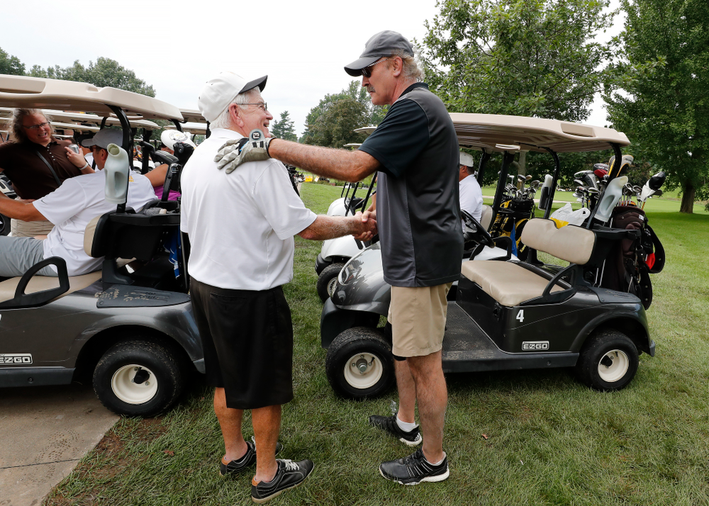 Dr. Tom Davis and Kevin Boyle The 2018 Chris Street Memorial Golf Outing Monday, August 27, 2018 at Finkbine Golf Course. (Brian Ray/hawkeyesports.com)