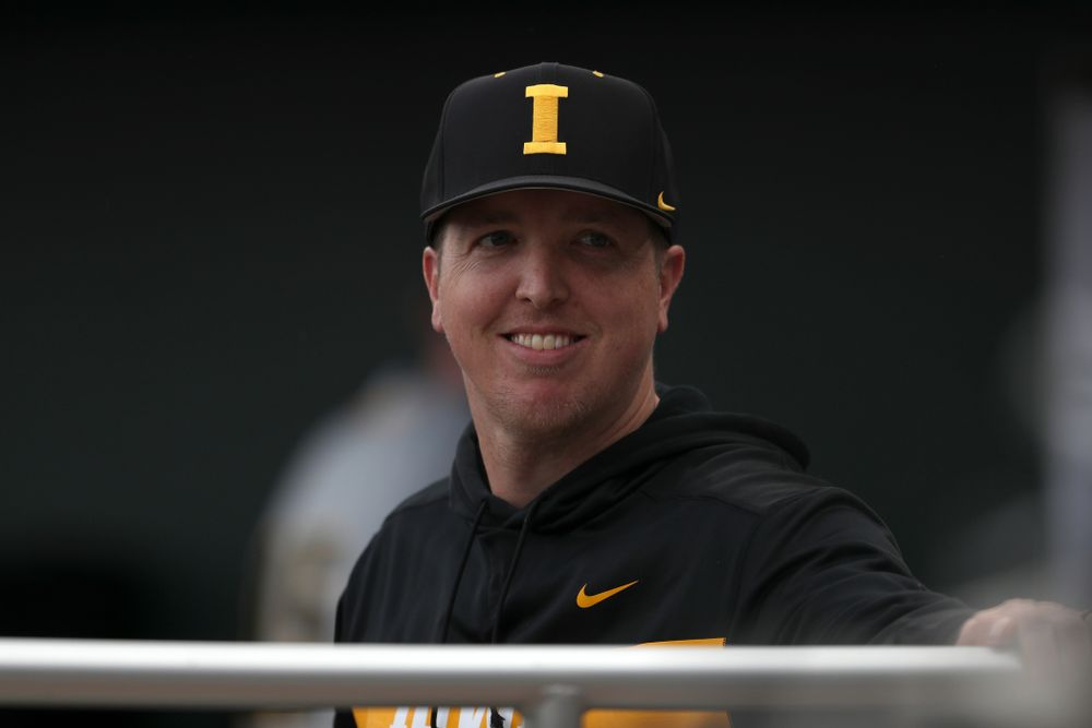 Pitching Coach Tom Gorzelanny against the Indiana Hoosiers in the first round of the Big Ten Baseball Tournament Wednesday, May 22, 2019 at TD Ameritrade Park in Omaha, Neb. (Brian Ray/hawkeyesports.com)