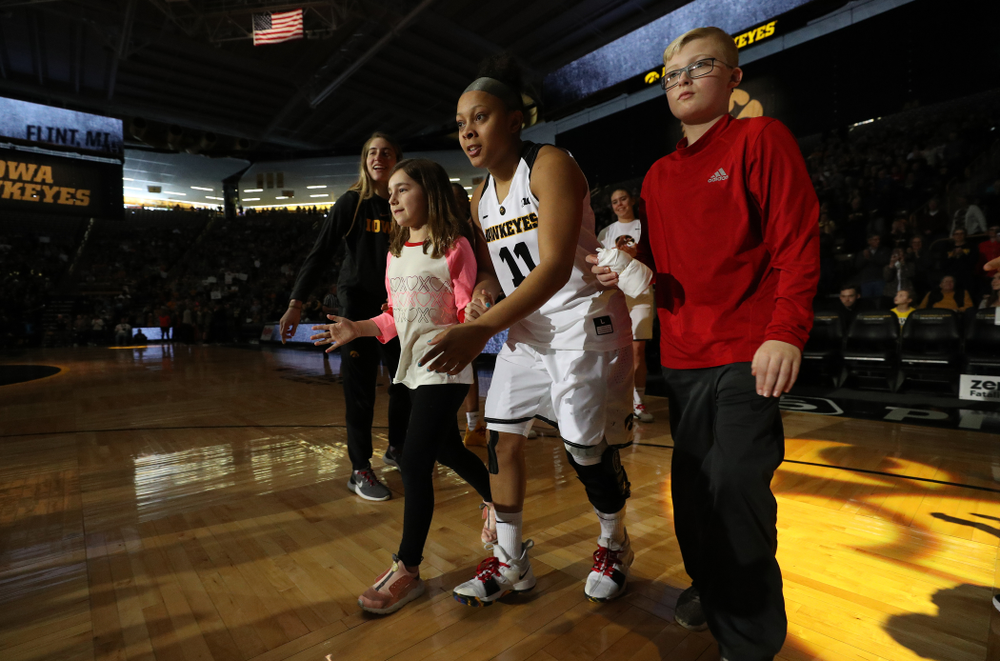 Iowa Hawkeyes guard Tania Davis (11) against the Purdue Boilermakers Sunday, January 27, 2019 at Carver-Hawkeye Arena. (Brian Ray/hawkeyesports.com)