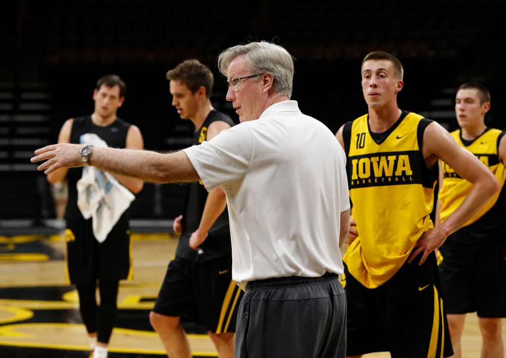 Iowa Hawkeyes head coach Fran McCaffery during the first practice of the season Monday, October 1, 2018 at Carver-Hawkeye Arena. (Brian Ray/hawkeyesports.com)