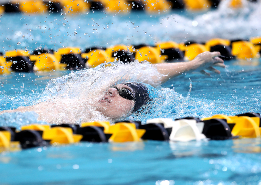 Iowa's Dolan Craine competes in the 400-yard IM on the third day at the 2019 Big Ten Swimming and Diving Championships Thursday, February 28, 2019 at the Campus Wellness and Recreation Center. (Brian Ray/hawkeyesports.com)
