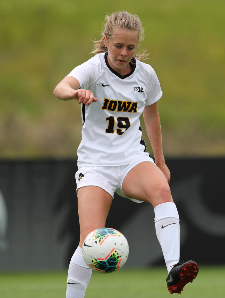 Iowa Hawkeyes forward Jenny Cape (19) during a 6-1 win over Northern Iowa Sunday, August 25, 2019 at the Iowa Soccer Complex. (Brian Ray/hawkeyesports.com)