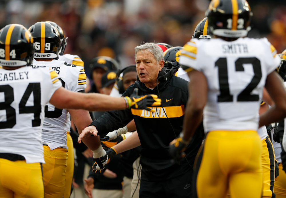 Iowa Hawkeyes head coach Kirk Ferentz against the Minnesota Golden Gophers Saturday, October 6, 2018 at TCF Bank Stadium. (Brian Ray/hawkeyesports.com)