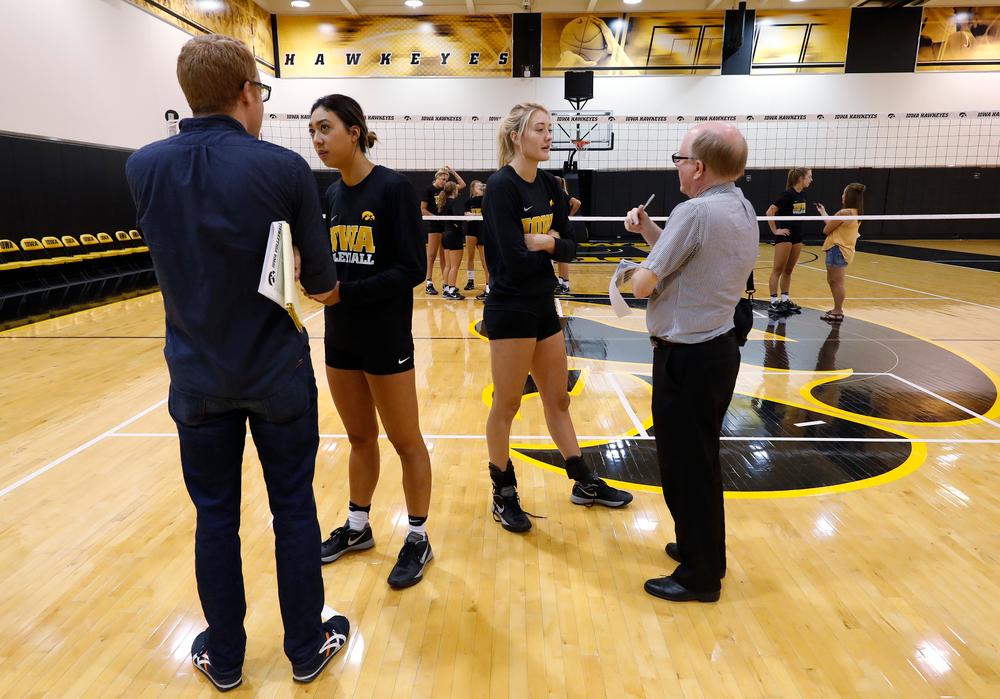 Iowa Volleyball's Loxley Keala and Lauren Broast