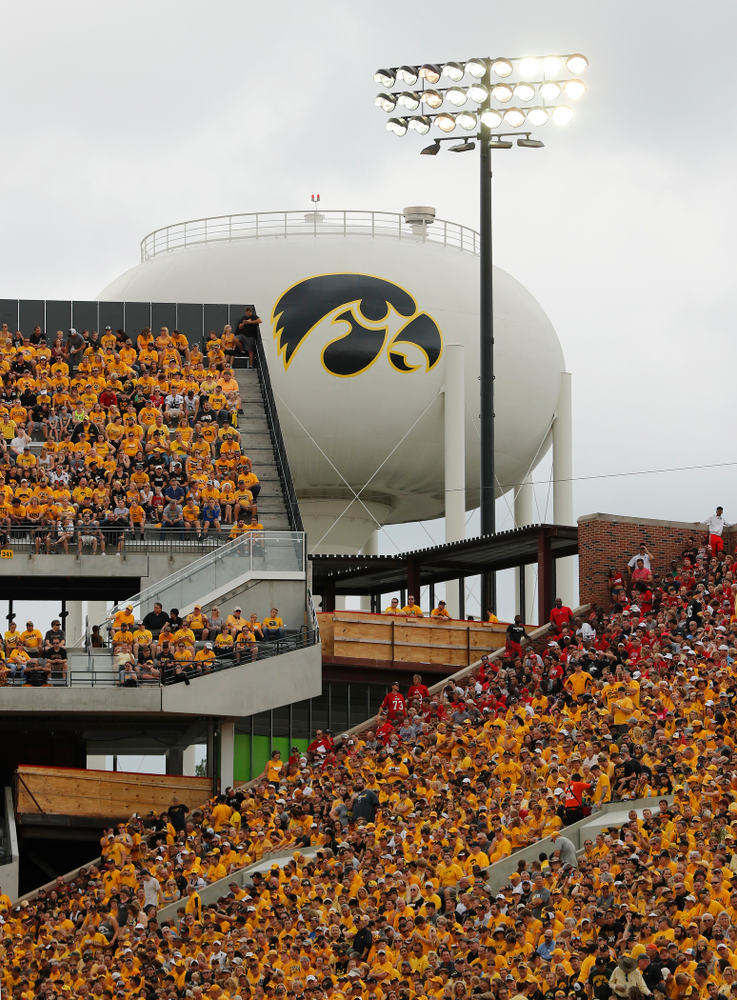 The Water Tower Tiger Hawk against the Northern Illinois Huskies Saturday, September 1, 2018 at Kinnick Stadium. (Brian Ray/hawkeyesports.com)