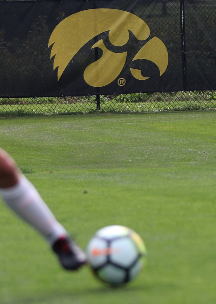 University of Iowa women's soccer practice Aug. 6, 2018.