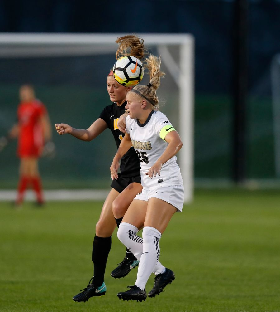 Iowa Hawkeyes Leah Moss (14) against the Purdue Boilermakers Thursday, September 20, 2018 at the Iowa Soccer Complex. (Brian Ray/hawkeyesports.com)
