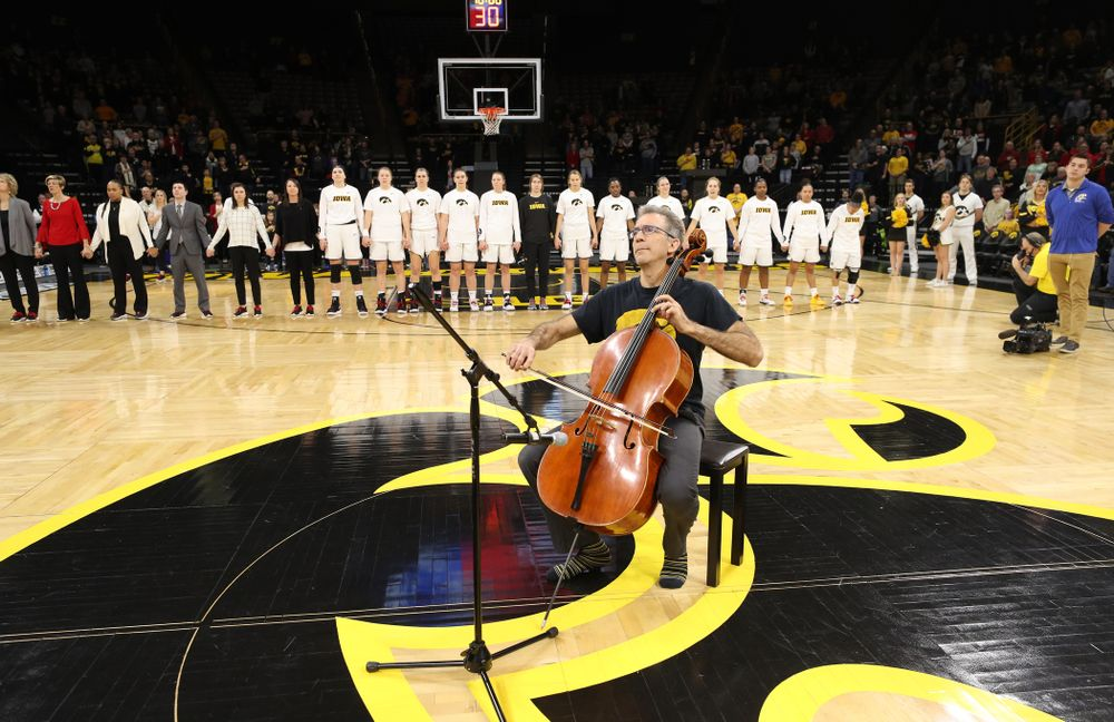 "The ""National Anthem"" before the Iowa Hawkeyes game against the Purdue Boilermakers Sunday, January 27, 2019 at Carver-Hawkeye Arena. (Brian Ray/hawkeyesports.com)"