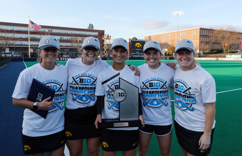 The Iowa Field Hockey Seniors following their game against Penn State in the 2019 Big Ten Field Hockey Tournament Championship Game Sunday, November 10, 2019 in State College. (Brian Ray/hawkeyesports.com)