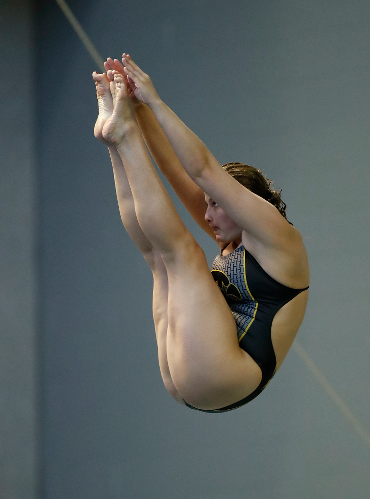 Iowa's Claire Park competes on the 3 meter springboard