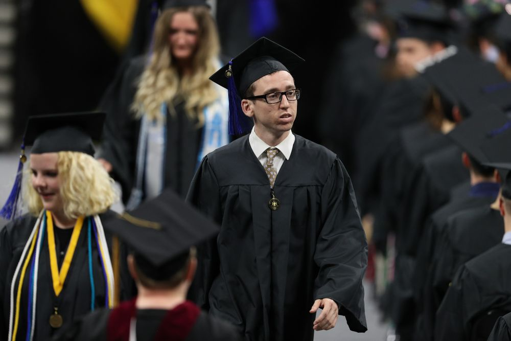 Iowa MenÕs Basketball Manager Brendan OÕConnor during the Tippie College of Business spring commencement Saturday, May 11, 2019 at Carver-Hawkeye Arena. (Brian Ray/hawkeyesports.com)