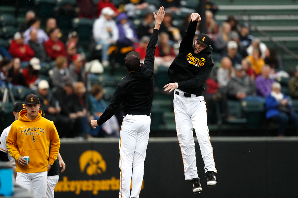 The Iowa Hawkeyes against Coe College Wednesday, April 11, 2018 at Duane Banks Field. (Brian Ray/hawkeyesports.com)