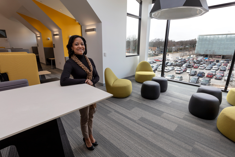 Liz Tovar associate athletics director for student-athlete academic services Thursday, April 5, 2018 at the renovated Gerdin Athletic Learning Center. (Brian Ray/hawkeyesports.com)