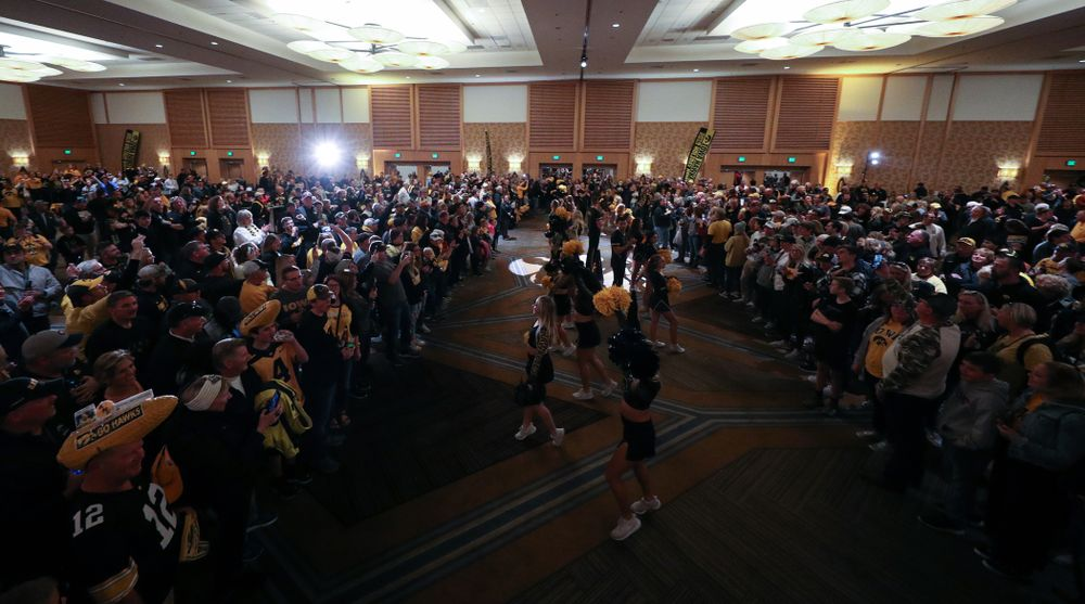 Fans during the Holiday Bowl Hawkeye Huddle Thursday, December 26, 2019 at the Hilton in downtown San Diego. (Brian Ray/hawkeyesports.com)